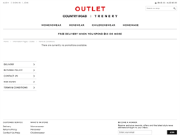 Country Road & Trenery Outlet gift card purchase