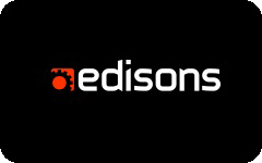 Edisons gift card design and art work