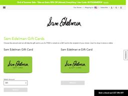 Sam Edelman gift card purchase