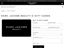 Marc Jacobs Beauty gift card balance check