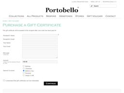Portobello Jewellers gift card purchase
