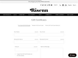Risenn gift card purchase