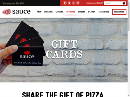 Sauce Pizza and Wine gift card purchase