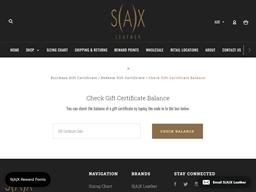 Sax Leather gift card balance check