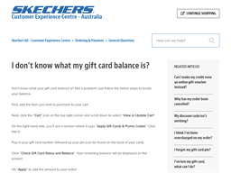 Skechers gift card balance check