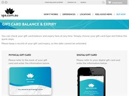 Spa Wellness gift card balance check