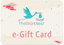 The Stork Nest gift card design and art work