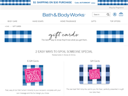 Bath & Body Works gift card purchase