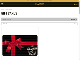 West Brothers gift card purchase