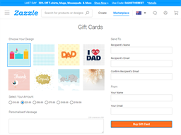 Zazzle gift card purchase