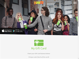 Boost Juice gift card purchase