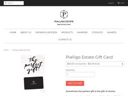 Pialligo Estate Smokehouse gift card purchase