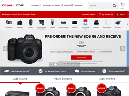Canon Australia shopping