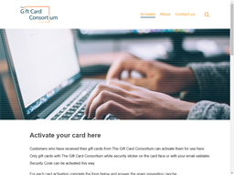 The Gift Card Consortium gift card balance check