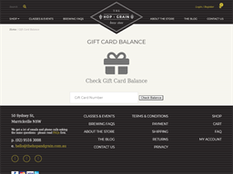 The Hop + Grain Brew Store gift card balance check