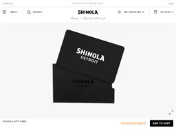 Shinola gift card balance check