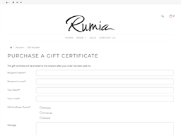 Rumia gift card purchase