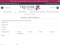 Treloar Roses gift card purchase