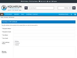 Aquarium Kingdom gift card purchase