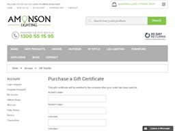 Amonson Lighting gift card purchase
