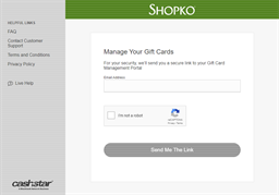 Shopko gift card balance check