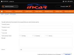Incar Installations gift card purchase