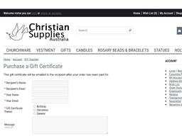 Christian Supplies SA gift card purchase