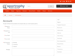 Sportrophy gift card purchase