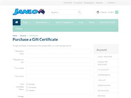 Janlon Australia Online Store gift card purchase
