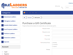 Able Ladders gift card purchase