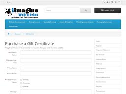 iimagine web n print gift card purchase
