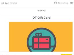 Ocean Terminal gift card purchase