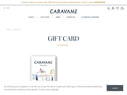 Caravane gift card purchase