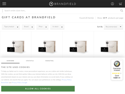 Brandfield gift card purchase