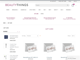 Beautythings gift card purchase
