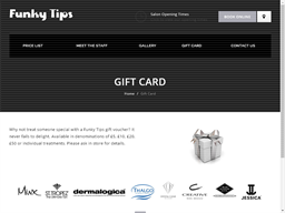 Funky Tips gift card purchase