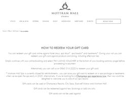 Mottram Hall gift card purchase