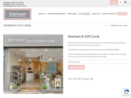 Storksen gift card purchase