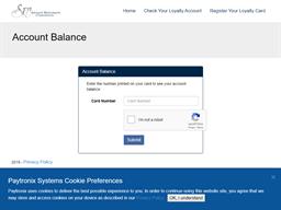 Specialty Restaurants gift card balance check