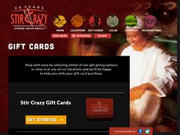 Stir Crazy gift card purchase