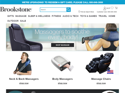 Brookstone shopping