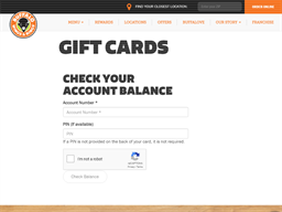 Buffalo Wings & Rings gift card balance check