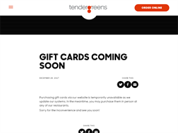 Tender Greens gift card purchase