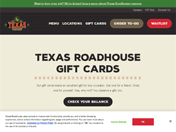Texas Roadhouse gift card purchase