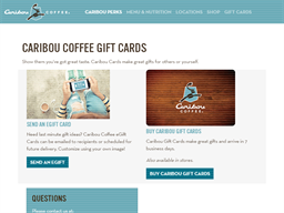 Caribou Coffee gift card purchase