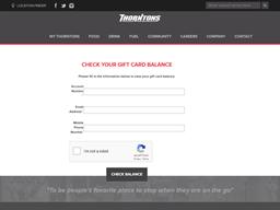 Thorntons gift card balance check