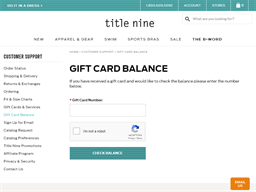 Title Nine gift card balance check