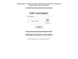 True Food Kitchen gift card balance check