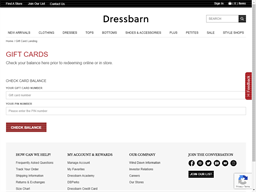 Dress Barn gift card balance check