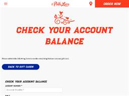 El Pollo Loco gift card balance check